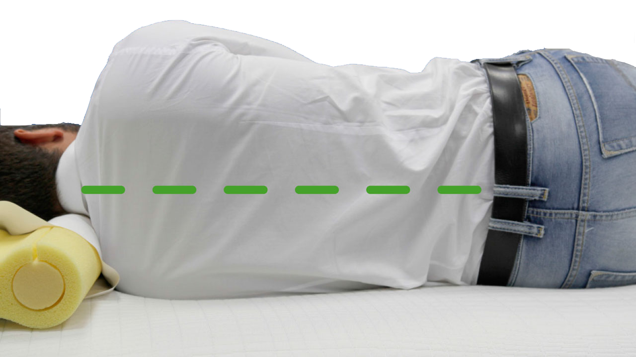 Ideal column alignment on a NGlife mattress.